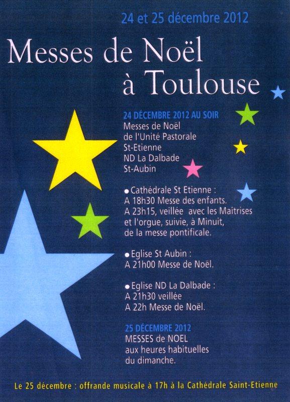 Horaire Messe De Noel Horaires messe minuit Noël cathédrale toulouse saint étienne